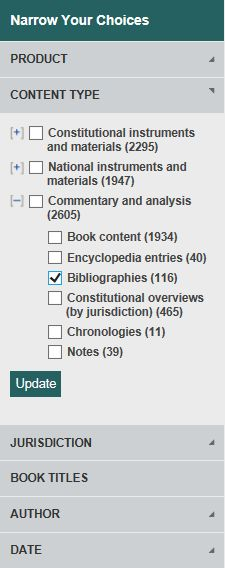 image of results filtered by bibliographies