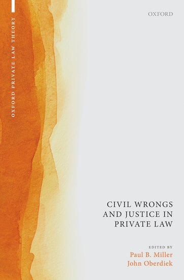 Civil Wrongs and Justice in Private Law book cover